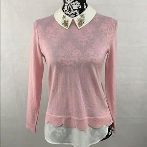 Ted Baker light Pink collar Sweater